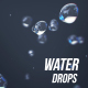 Water drops upwards - VideoHive Item for Sale