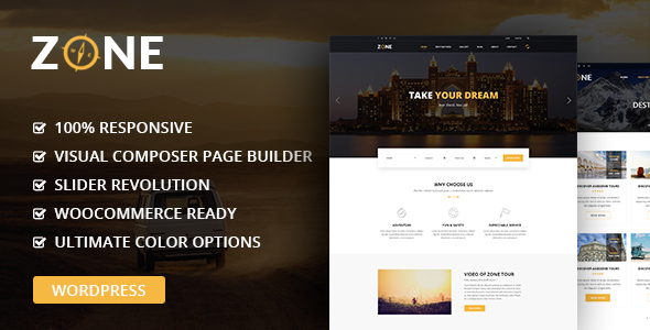 Zone – Tours and Travel WordPress Responsive Theme