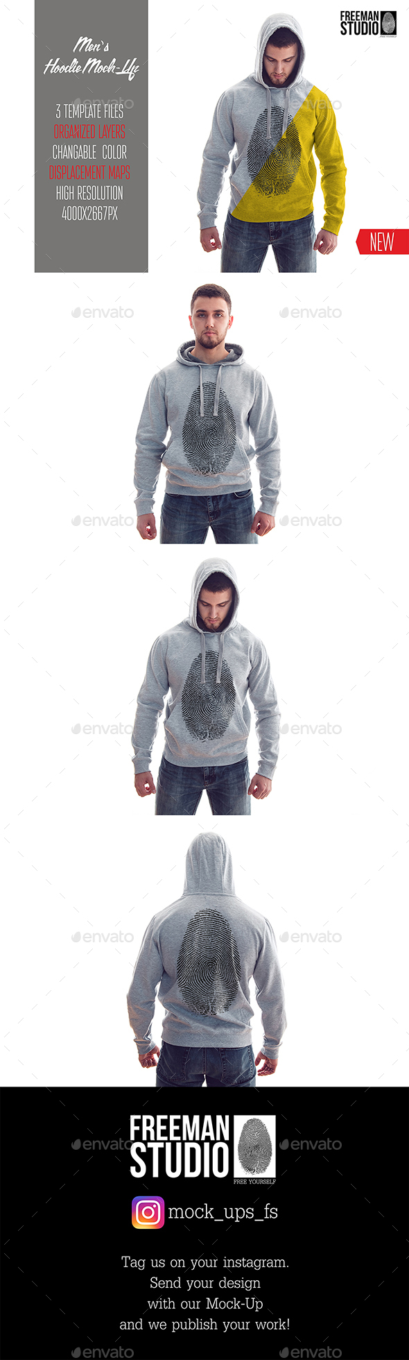 Men's Hoodie Mock-Up