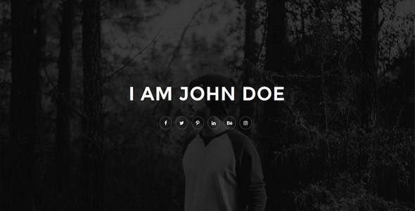 Elumni Personal html5 Template - Personal Site Templates