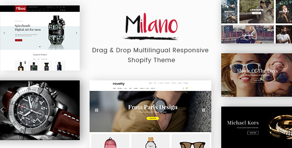 Milano – Drag & Drop Multilingual Responsive Shopify Theme