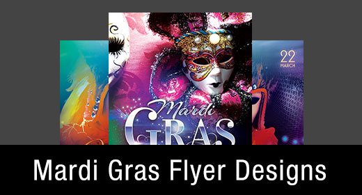 *Mardi Gras Flyer Templates