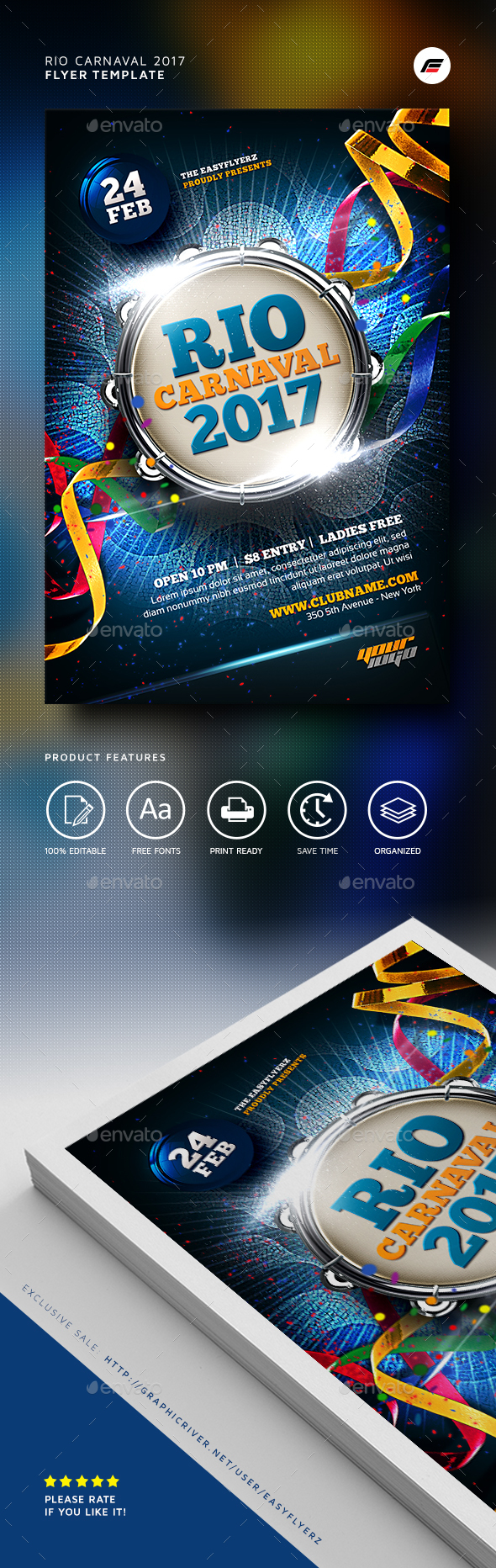 Carnaval 2017 Flyer Template - Events Flyers