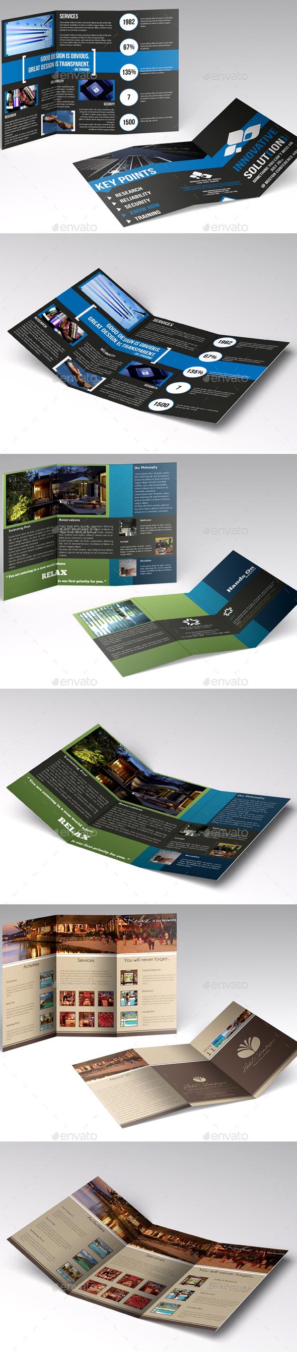 Trifold Brochures Bundle - Corporate Brochures