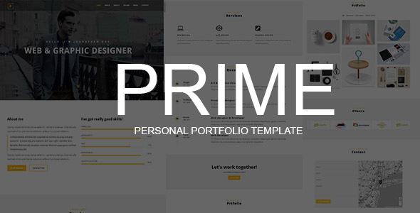 PRIME – Personal Portfolio Template