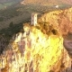 Aerial Shot, Upezzinghi Tower on the Rocky Outcrop in Italy, Tuscany, on the Sunset Light, Filmed - VideoHive Item for Sale