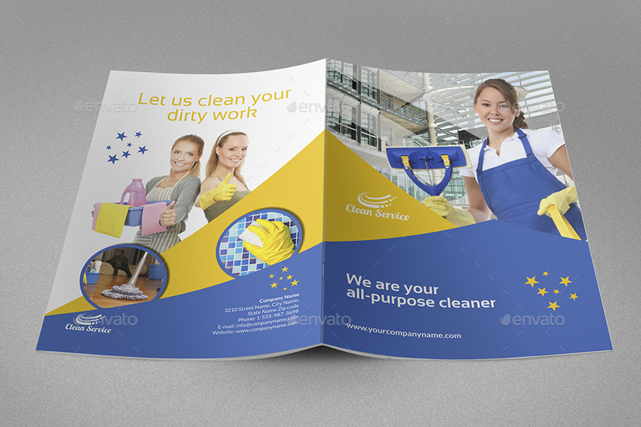 cleaning services brochure bundle template
