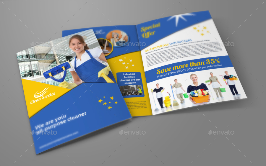 Cleaning Services Brochure Bundle Template By Owpictures