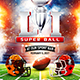 American Football Super Ball Flyer vol.4 - GraphicRiver Item for Sale