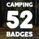 52 Camping Logos + 20 Icons.Bundle - GraphicRiver Item for Sale