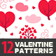 12 Valentine Seamless Patterns - GraphicRiver Item for Sale