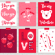 12 Valentine Cards + 3 Seamless Patterns - GraphicRiver Item for Sale