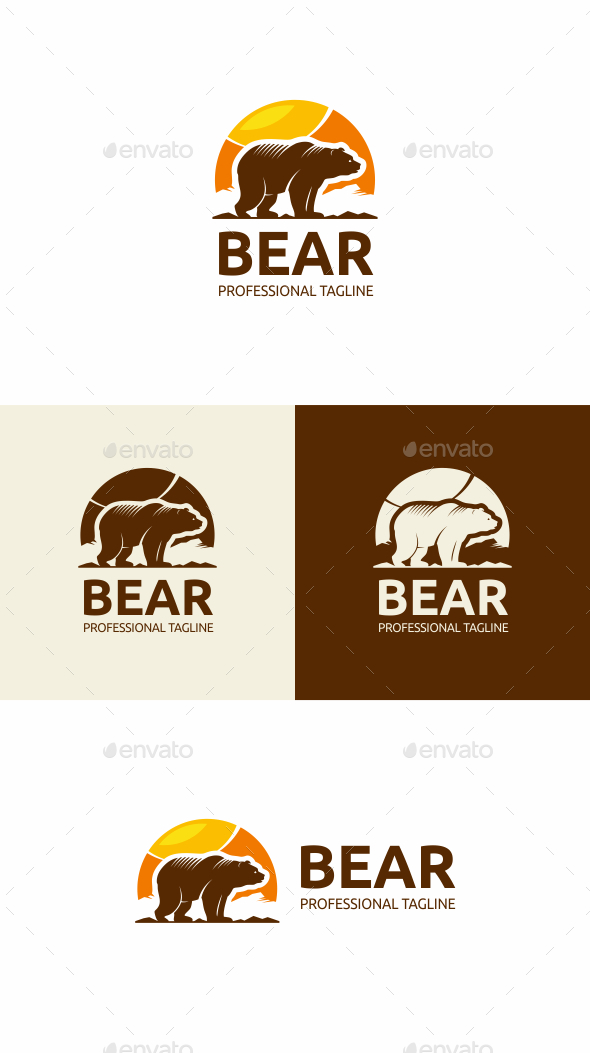Bear - Animals Logo Templates