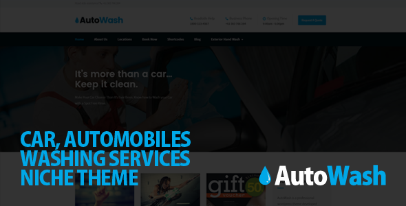 AutoWash - Car | Automobiles Washing WordPress Theme