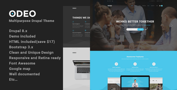 Odeo - Multipurpose Fast Performance Drupal 8 Theme - Business Corporate