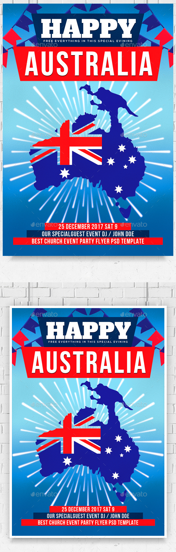 Australia Day Flyer - Events Flyers