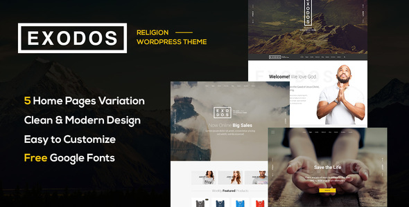Exodos - Church WordPress Theme - Nonprofit WordPress