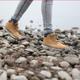 Footstep Gravel Rocks Sneakers Walking Single Steps