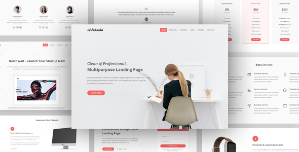 Image of Vakavia - Multipurpose Landing Page Template