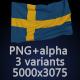 Flag of Sweden - 3 Variants - GraphicRiver Item for Sale