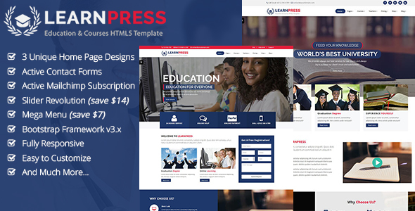 LearnPress | Education & Courses HTML Template