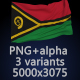 Flag of Vanuatu - 3 Variants - GraphicRiver Item for Sale