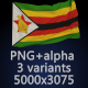 Flag of Zimbabwe - 3 Variants - GraphicRiver Item for Sale