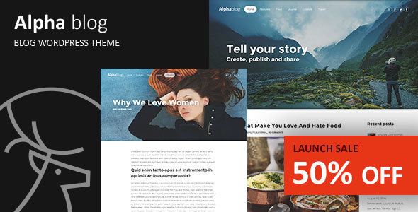 Alpha-blog – Clean WordPress Blog Theme