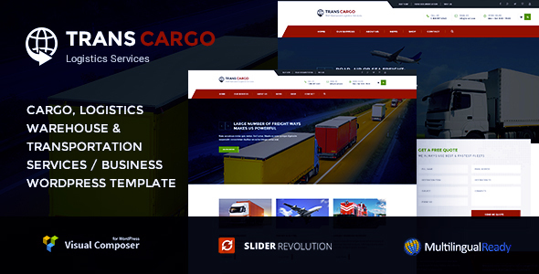 Trans Cargo - Transport & Logistics WordPress - Business Corporate