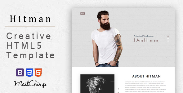 Hitman – Responsive Corporate, Business, Creative , Portfolio and  Blog Template