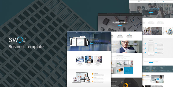SWOT — Multi-Concept Business PSD Template