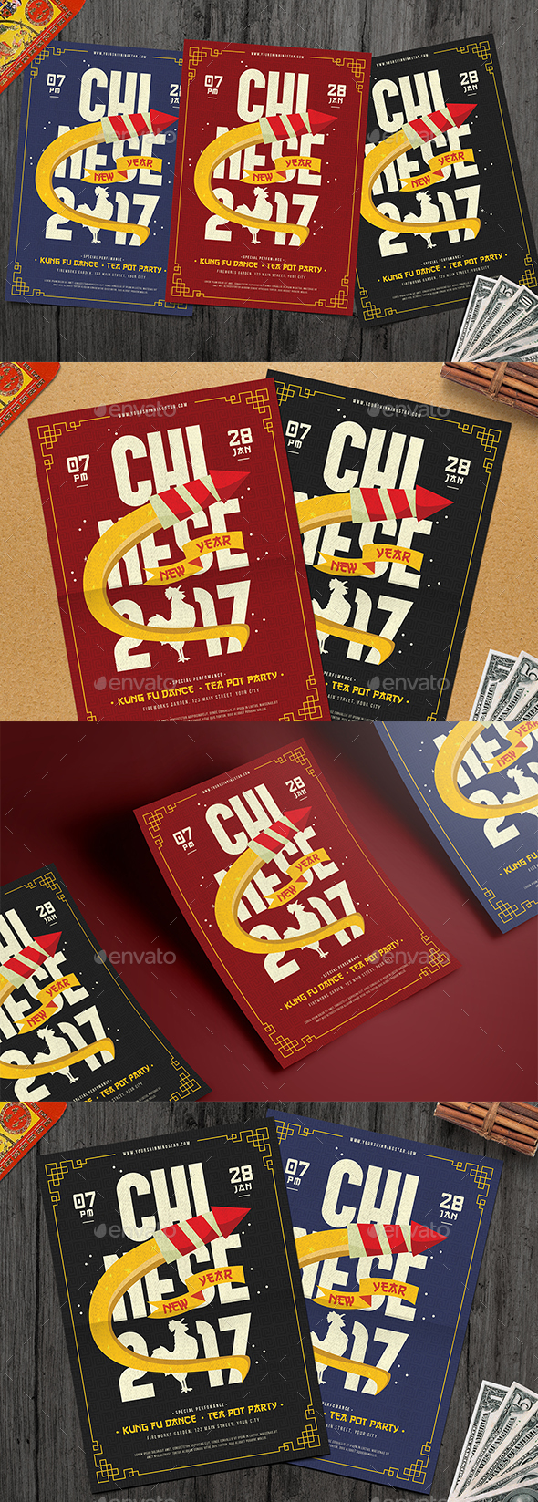 Modern Chinese New Year Flyer - Events Flyers