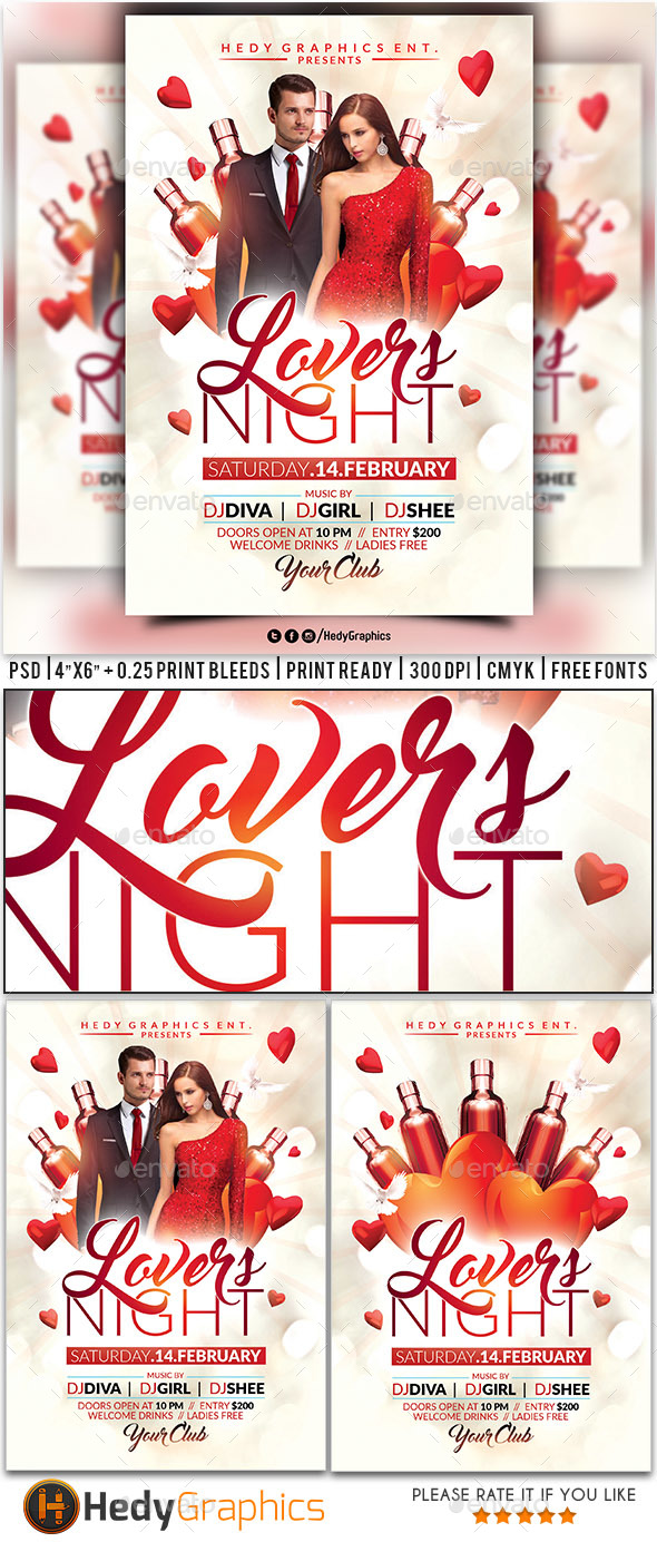 Lovers Night Flyer - Clubs & Parties Events