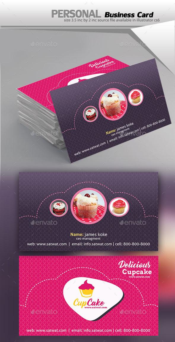 Cupcake Business Card - Business Cards Print Templates