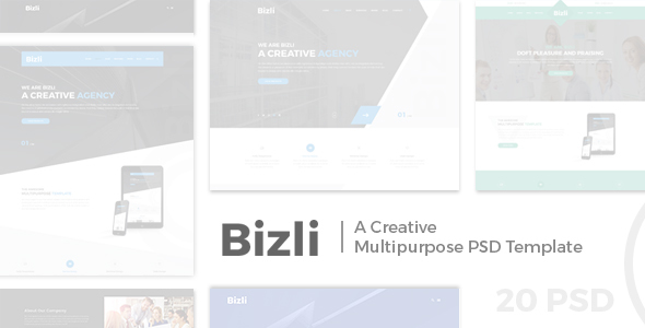 Bizli - Creative Multipurpose PSD Template - Creative PSD Templates