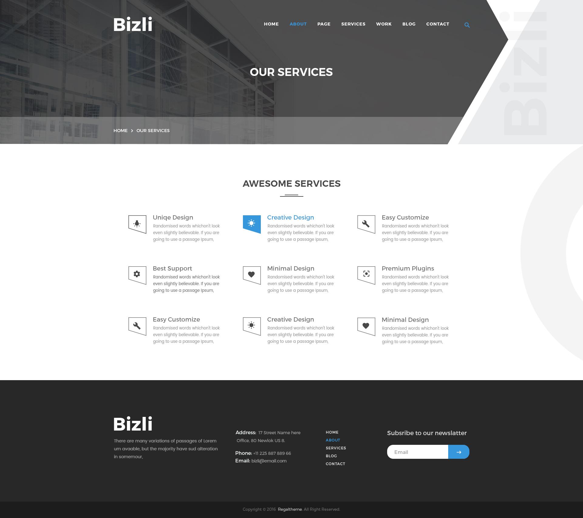 Bizli - Creative Multipurpose PSD Template by RegalTheme | ThemeForest