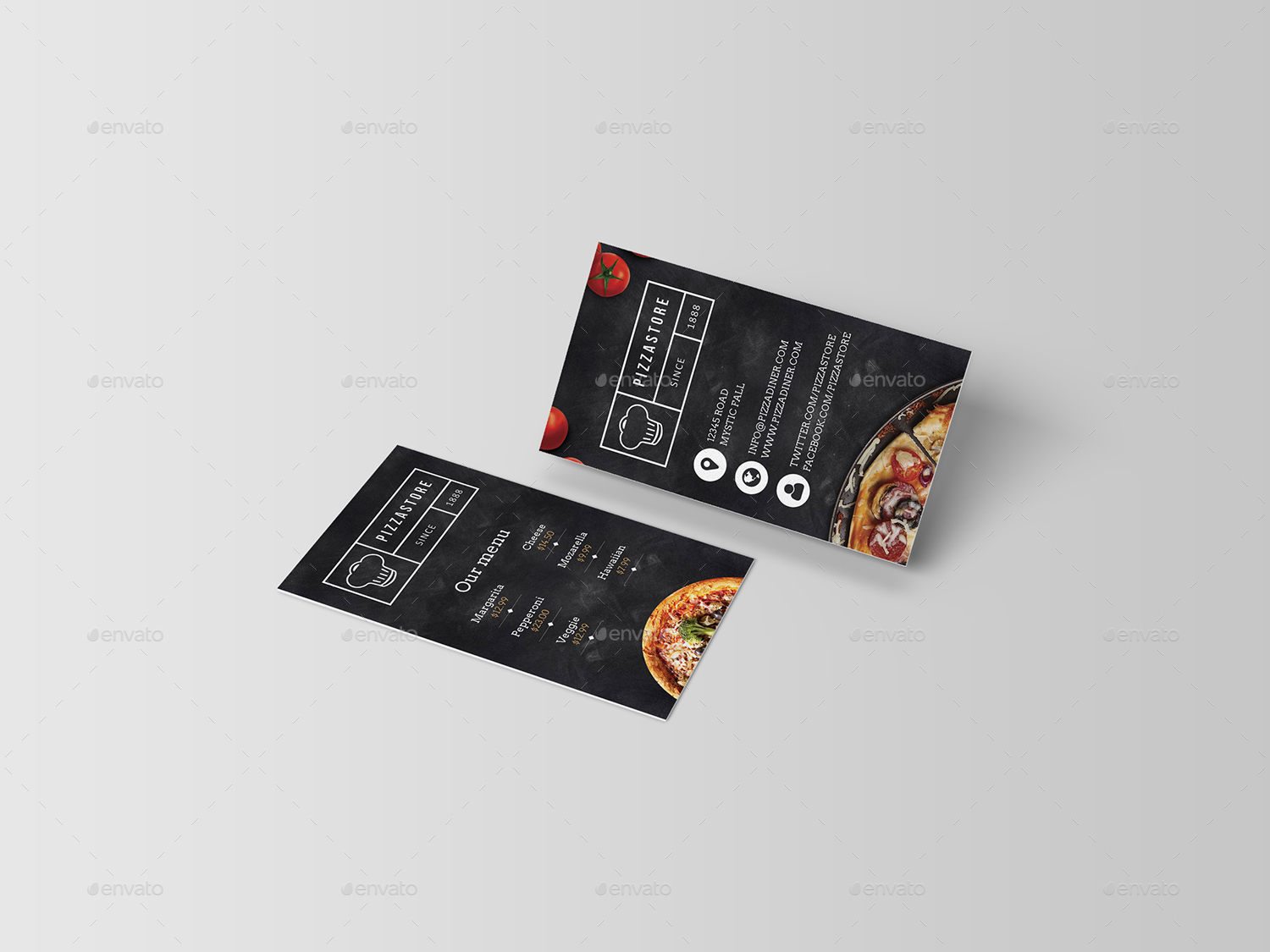 Pizza Business Card by Dutchflow | GraphicRiver