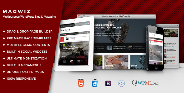 MagWiz – Multipurpose WordPress Magazine & Blogging theme