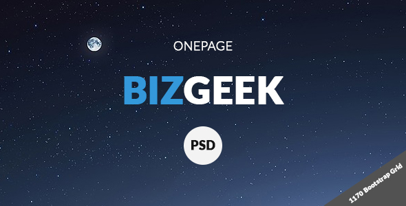 BizGeek – One Page Corporate PSD