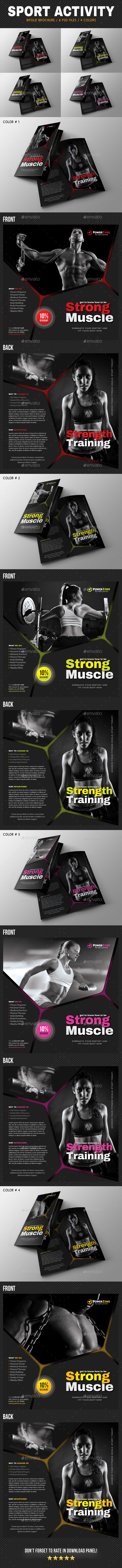 Sport Activity Bifold Brochure 04 - Brochures Print Templates