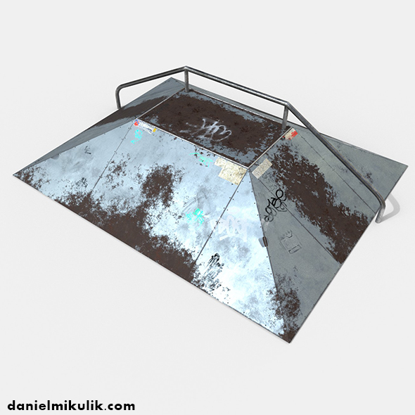 Skate Ramp PBR Textures - 3DOcean Item for Sale