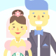 9 Wedding Couples with Flat Characters - GraphicRiver Item for Sale