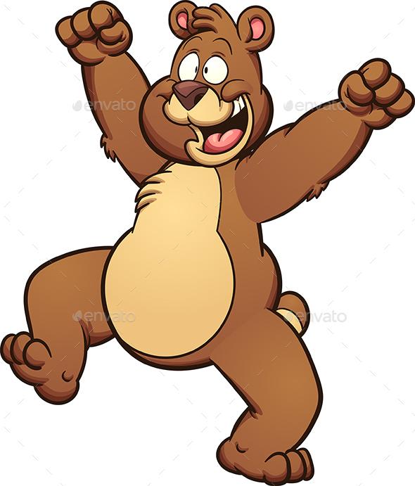 Happy Bear - Animals Characters