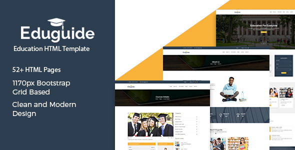 Eduguide  – Education HTML Template - Nonprofit Site Templates