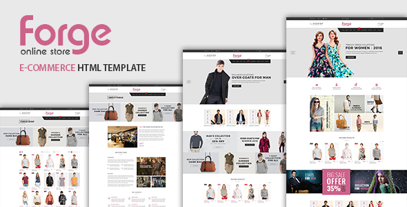 Forge - eCommerce Fashion Template - Fashion Retail