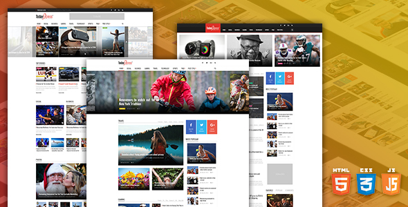 TodayExpress – News & Magazine HTML Template