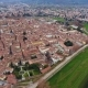 Aerial Shot, Beautiful Panorama of Lucca City, an Ancient Town in the Middle of Tuscany, Italy - VideoHive Item for Sale