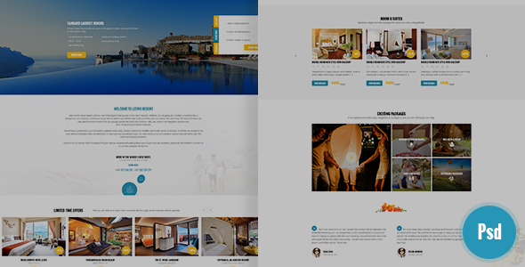 Leevio & Resort, Hotel, Travel PSD Template by sakatran | ThemeForest