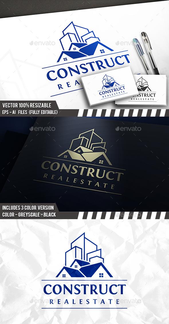 City Construct Logo - Buildings Logo Templates