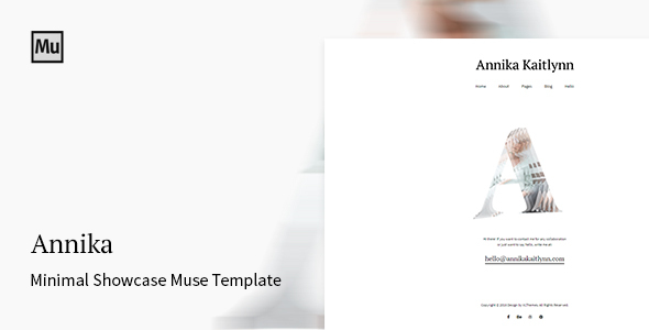 Annika - Minimal Showcase Adobe Muse Template - Creative Muse Templates